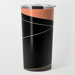 Angelica . Coral , black , brown Travel Mug