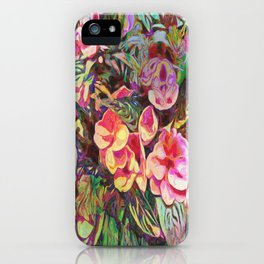 Beautiful Tropical Impatiens iPhone Case