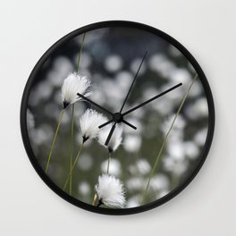 Wispy Flowers Wall Clock