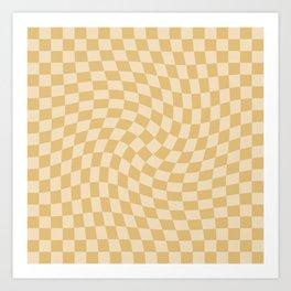 Check III - Mustard Twist Art Print