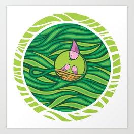 Birds in the nest Art Print