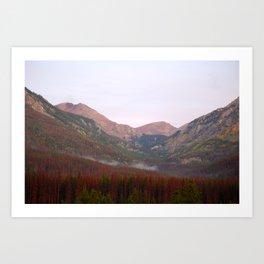 Morning Mountain Fog Art Print