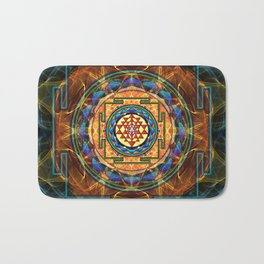 The Sri Yantra - Sacred Geometry Bath Mat