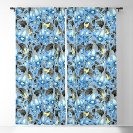 Colibri Bleu Blackout Curtain