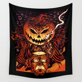 Halloween Pumpkin King (Lord O' Lanterns) Wall Tapestry