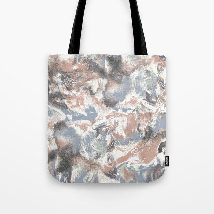 Marble Mist Terra Cotta Blue Tote Bag