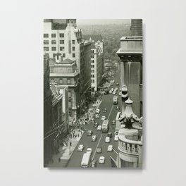 Fifth Avenue, New York City, B&W, high angle view 1950s vintage photo Metal Print