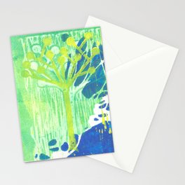 Yellow Dot Tree Stationery Cards