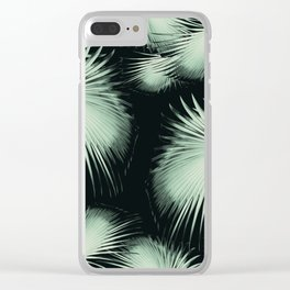 Fan Palm Leaves Paradise #3 #tropical #decor #art #society6 Clear iPhone Case