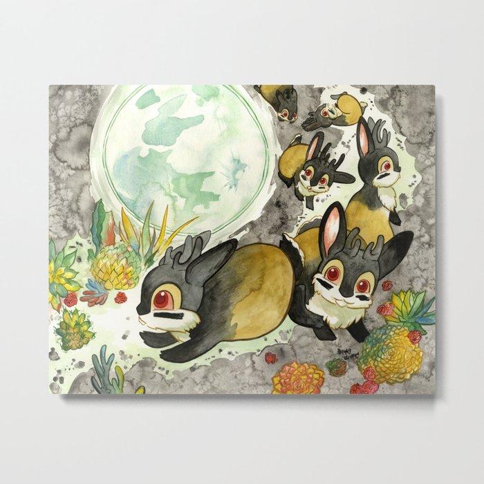 Moonlight (With Jackalopes) Metal Print