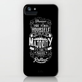 Lab No. 4 Whenever You Find Yourself Mark Twain Quotes iPhone Case