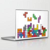 tetris Laptop & iPad Skins featuring Tetris by Adayan