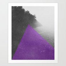 NEON NATURE | Purple Art Print