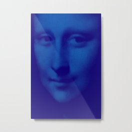 Blue Mona Metal Print
