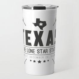 Texas State Badge Travel Mug