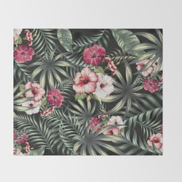 Tropical leave pattern 11.1 Throw Blanket