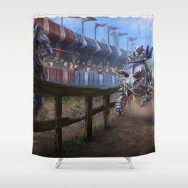Dino Joust Shower Curtain