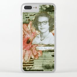 Rainy Day Love Clear iPhone Case