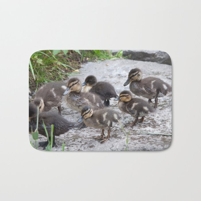 Baby Ducklings in the park #1 #decor #art #society6 Bath Mat