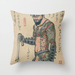 Leather In Japan 1 Throw Pillow