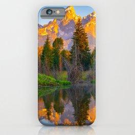 Grand Teton National Park Sunrise Reflection Print iPhone Case