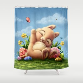 A little Easter bunny Shower Curtain