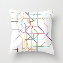 No name transport map Throw Pillow