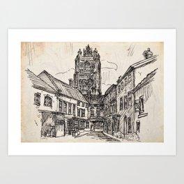 St Peter Mancroft Church Art Print