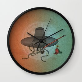 Minhwa: GAT Joseon Hat B Type) Wall Clock