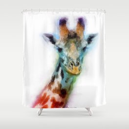Color of a Giraffe Shower Curtain
