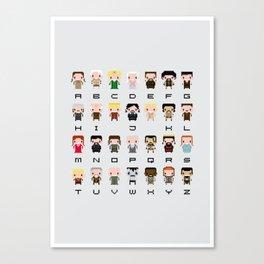 Game of Thro nes Alphabet Canvas Print