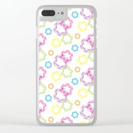 Curved & Twisted Lines Clear iPhone Case
