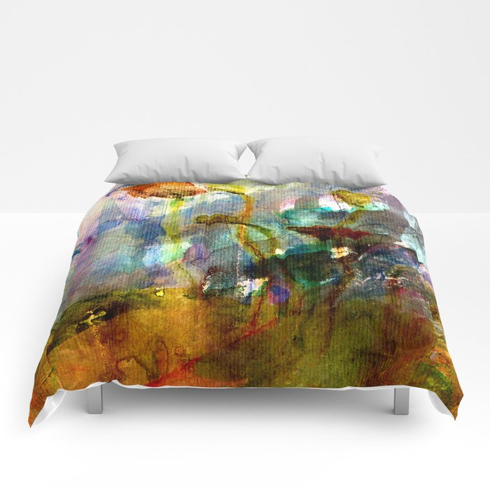flowers on the field Comforters