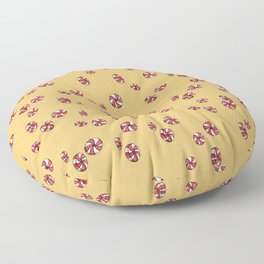 Peppermint Candy in Yellow Floor Pillow