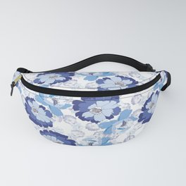Blue Floral beauty Fanny Pack