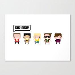 The Big Bang Theory Pixel Characters Canvas Print