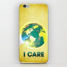 I Care / Golden iPhone & iPod Skin