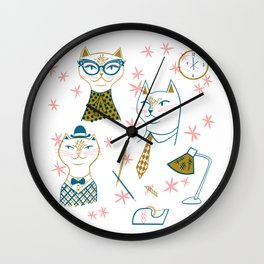 Nine to Five Cats Wall Clock