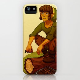 Link on a Log iPhone Case