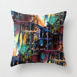 univesal steam mechanism Throw Pillow