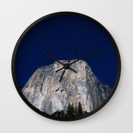 Nightscape Mountain Wall Clock