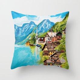 Hallstatt, Austria Throw Pillow