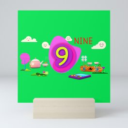 Number nine - Kids Art Mini Art Print