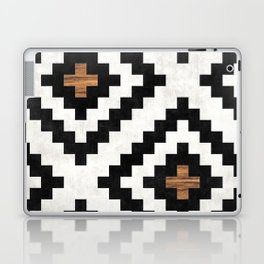 Urban Tribal Pattern No.16 - Aztec - Concrete and Wood Laptop & iPad Skin
