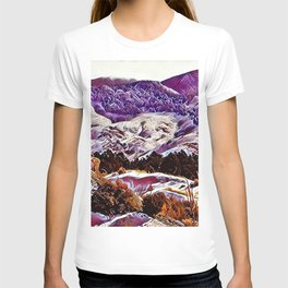 Winter Purple Pink Hills by CheyAnne Sexton T-shirt