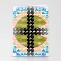 pacman Stationery Cards featuring PacMan  by Freckled King