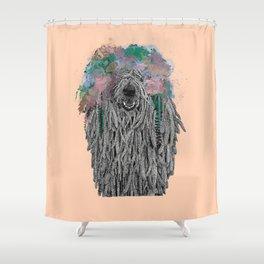 Dredlock Dog (Pastel Orange Edition) Shower Curtain