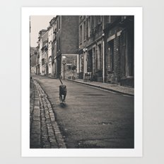 Running Dog Art Print