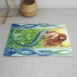Kelp Forest Mermaid Rug