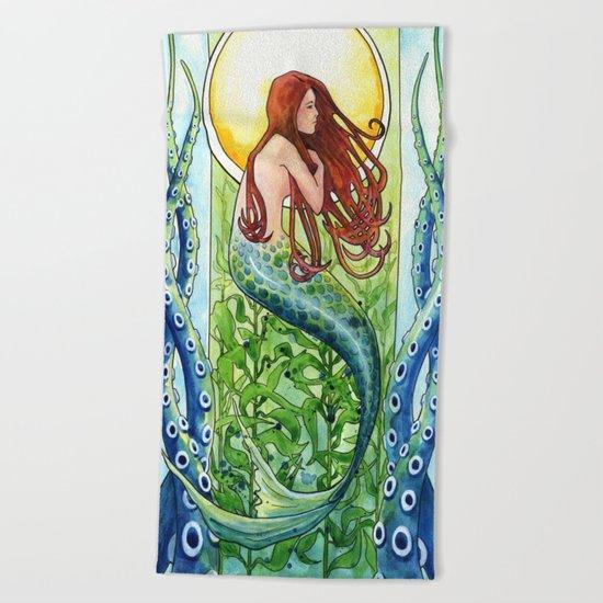 Kelp Forest Mermaid Beach Towel